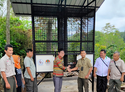 The Wildlife Authority (BBKSDA) Region III Padangsidimpuan Inaugurates Construction of a Holding Cage in Sipirok (November 11, 2019)